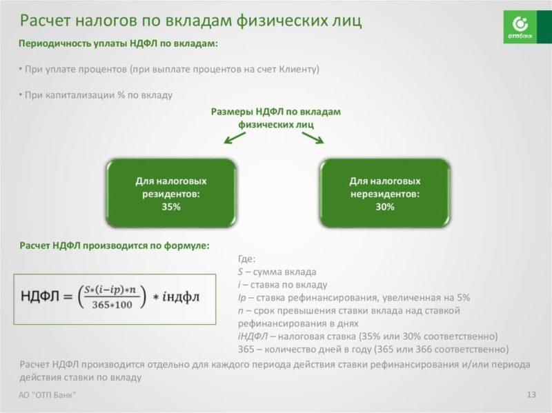 Рассчитать проценты банка по вкладу